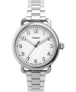Standard 34mm Stainless Steel Bracelet Watch Silver-Tone large