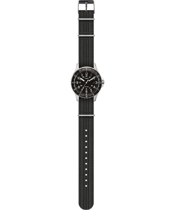 Navi Ocean 38mm Fabric Strap Watch Stainless-Steel/Gray/Black large