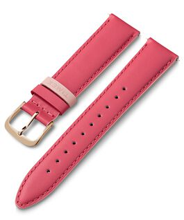 20mm Leather Strap with Colored Keeper Pink large