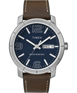 Mod44 44mm Leather Watch Chrome/Brown/Blue large