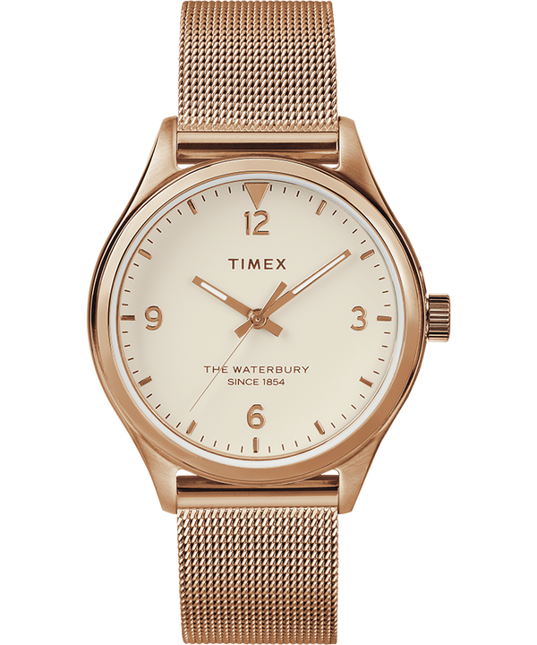 Waterbury Traditional Womens 34mm Mesh Bracelet Watch  large