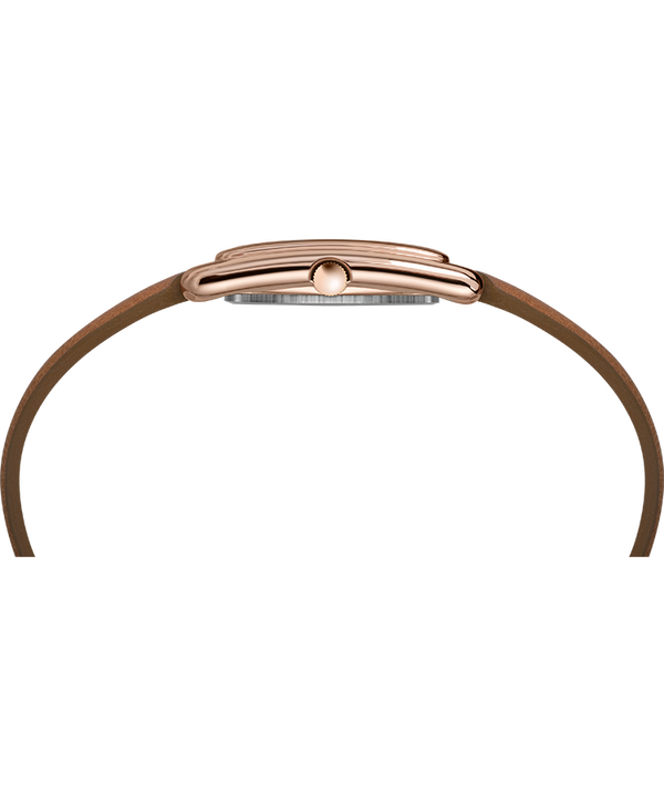 Meriden 25mm Leather Strap Watch Rose-Gold-Tone/Tan/Silver-Tone large