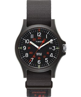 Acadia 40mm Military Grosgrain Strap Watch Black large