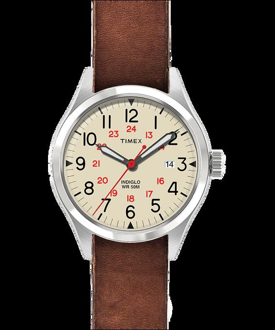 Waterbury United 38mm Stonewashed Leather Strap Watch  large