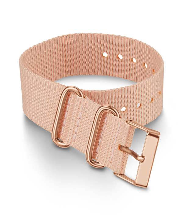 20mm Fabric Slip-Thru Single Layer Strap Pink large