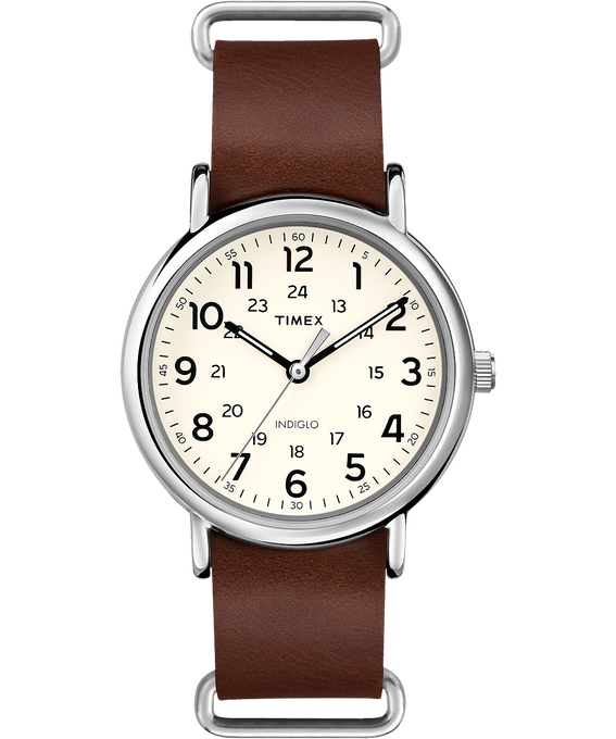 Weekender 40mm Leather Watch     large