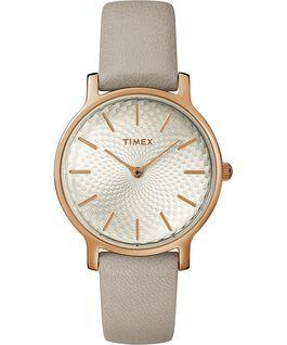 Metropolitan 34mm Leather Watch Rose-Gold-Tone/Gray large