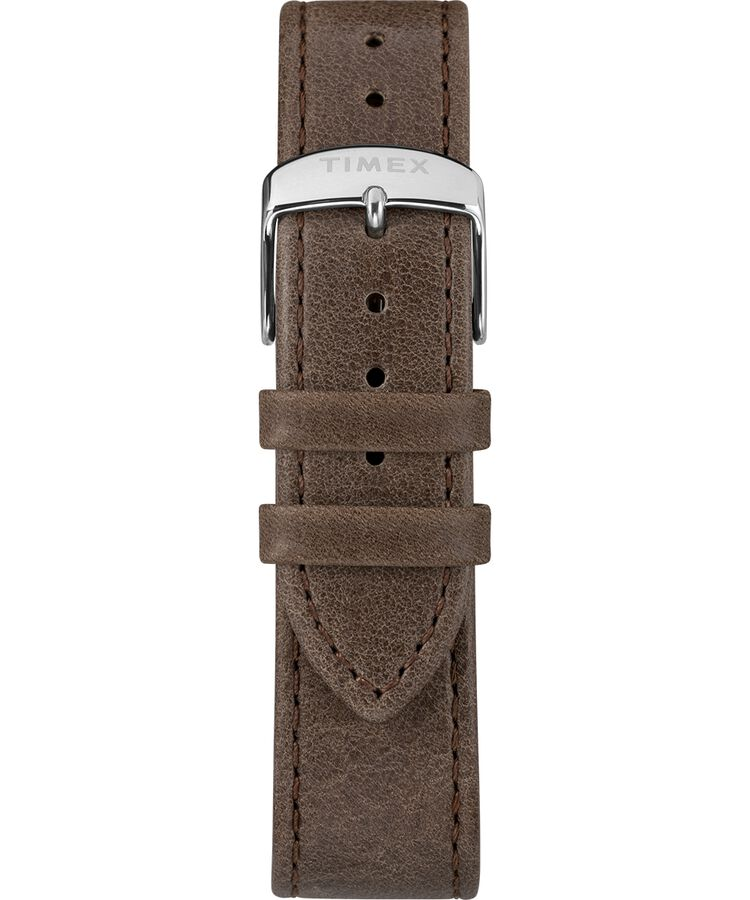 6f6808248 Welton Timex X Peanuts Featuring Snoopy 40mm Leather Strap Watch  Stainless-Steel/Brown/