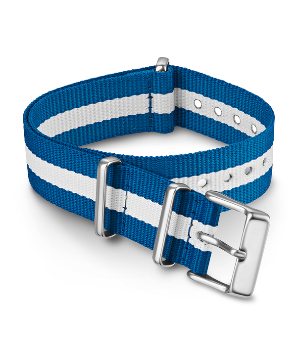 18mm Fabric Slip-Thru Double Layer Strap Blue large