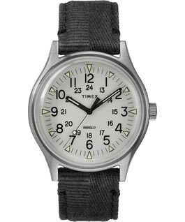 MK1 Steel 40mm Fabric Strap Watch Stainless-Steel/Black/Gray large