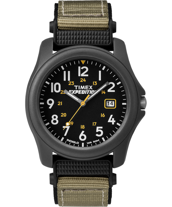 Expedition Camper 39mm Fabric Strap Watch Gray/Black large