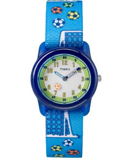 8165d377baa Kids Analog 28mm Elastic Fabric Strap Watch Blue White large