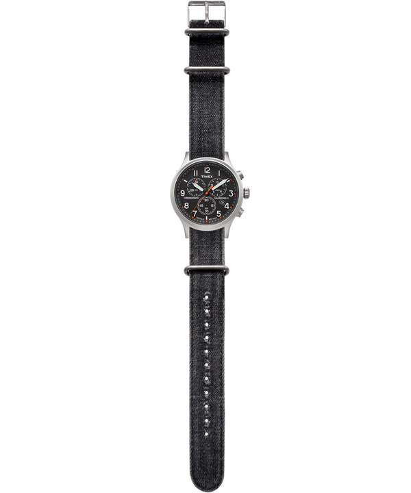 Allied Chronograph 42mm Denim Strap Watch  large