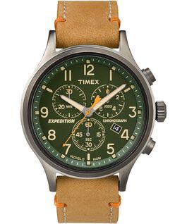 660e8ff17df Expedition Scout Chronograph 42mm Leather Strap Watch