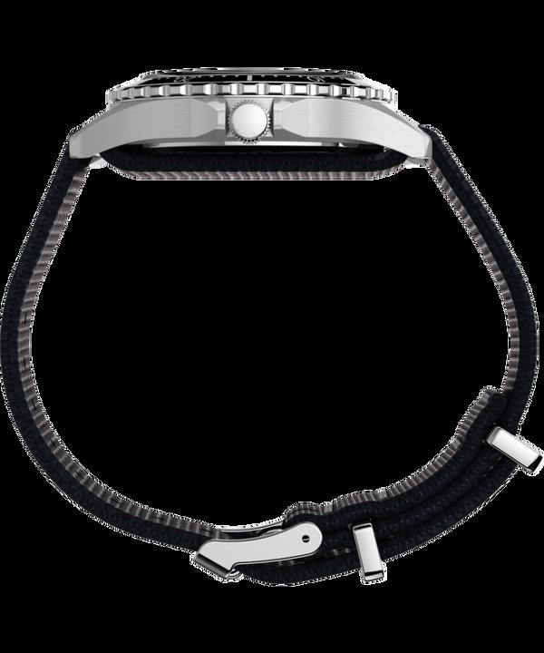 Navi XL 41mm Fabric Slip-Thru Strap Watch Stainless-Steel/Blue large