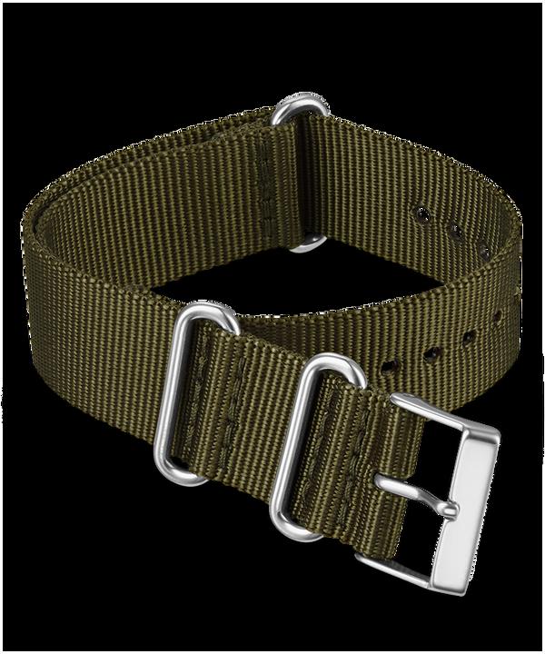 16mm Fabric Slip-Thru Single Layer Strap Green large