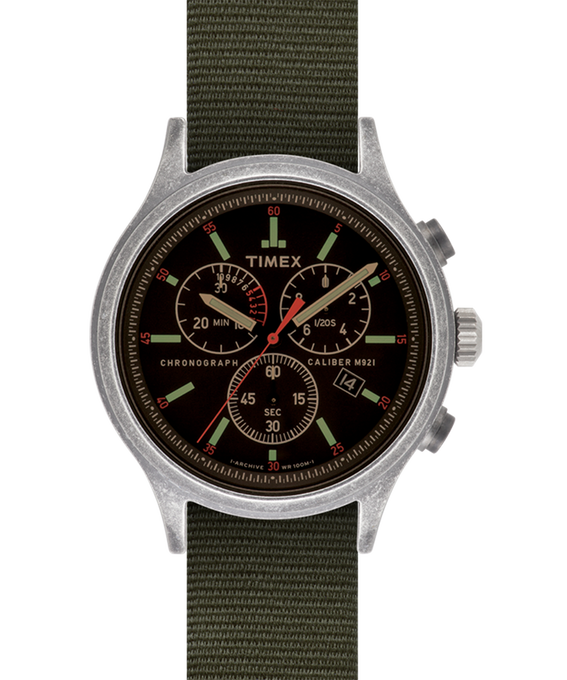 Scout Chronograph 42mm Reversible Fabric Strap Watch  large