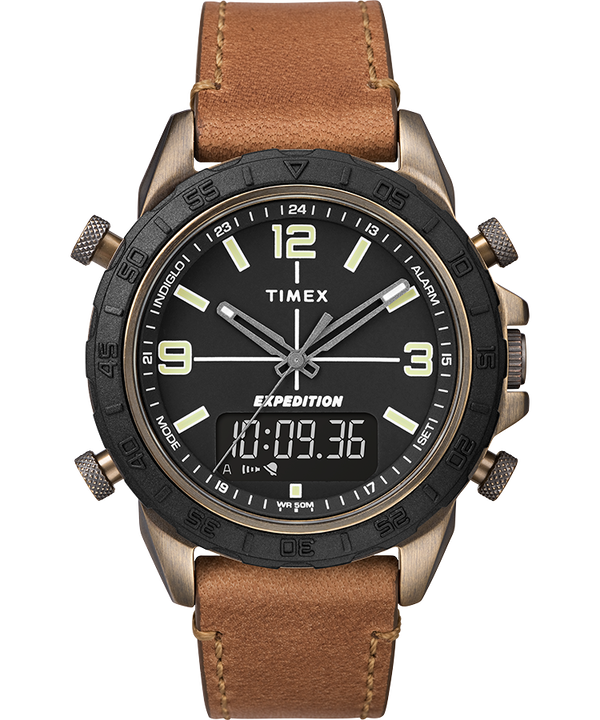 Expedition Pioneer Combo 41mm Quick Release Leather Strap Watch  large