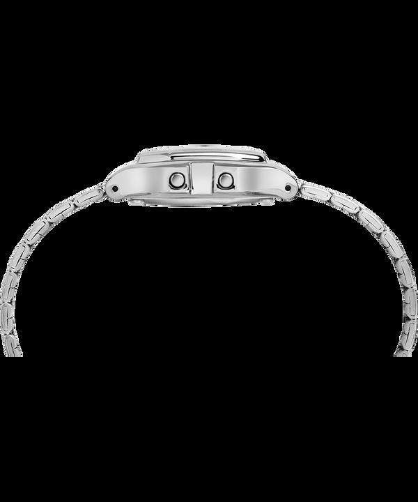 Digital Mini 27mm Bracelet Watch Silver-Tone/Black large