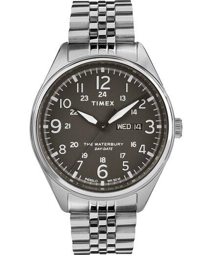 bd2682734 Waterbury Traditional Day Date 42mm Stainless Steel Bracelet Watch Stainless -Steel/Black large