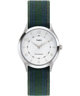 Whitney Village 36mm Reversible Grosgrain Strap Watch Stainless-Steel/White large