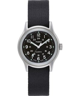 MK1 Military 36mm Grosgrain Strap Watch Silver-Tone/Black large