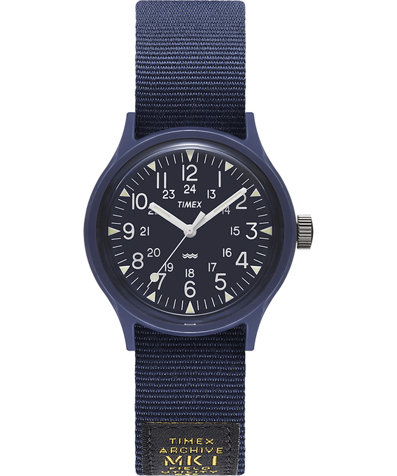 MK1 Military 36mm Grosgrain Strap Watch Blue large