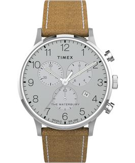 Waterbury-40mm-Classic-Chrono-Leather-Strap-Watch Stainless-Steel/Tan large