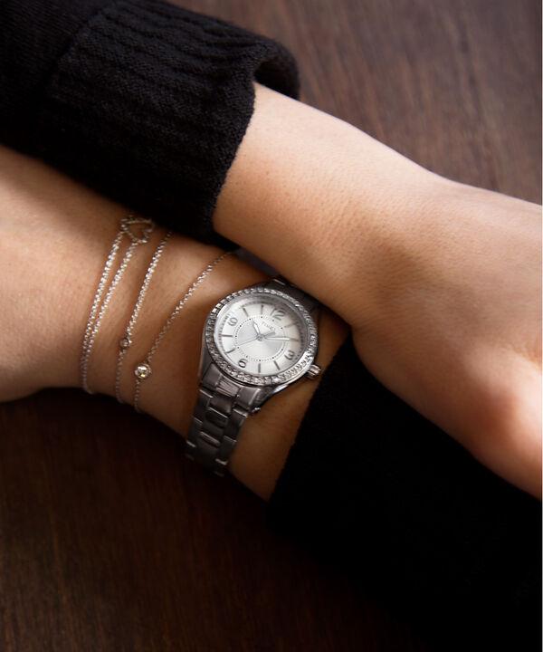 Miami Mini 30mm Bracelet Watch Silver-Tone/Stainless-Steel/White large