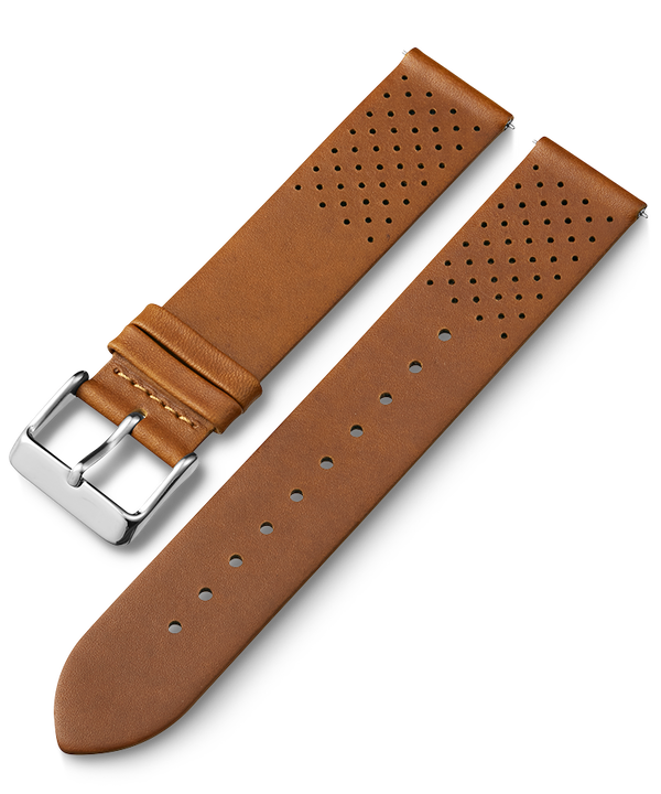 20mm Quick Release Leather Strap with Perforations 1  large