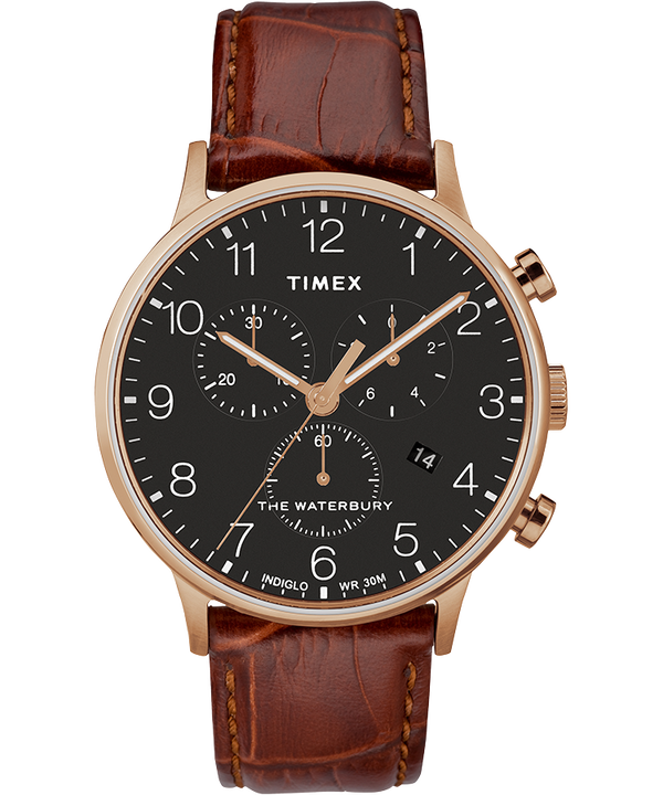 Waterbury Classic Contactless 40mm Leather Strap Watch  large