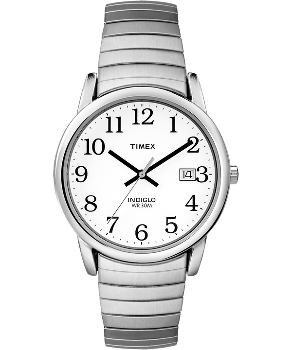 Easy Reader 35mm Expansion Band Watch Silver-Tone/Stainless-Steel/White large