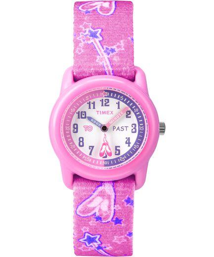 6cb0be71b2a Kids Analog 29mm Elastic Fabric Strap Watch Pink White large