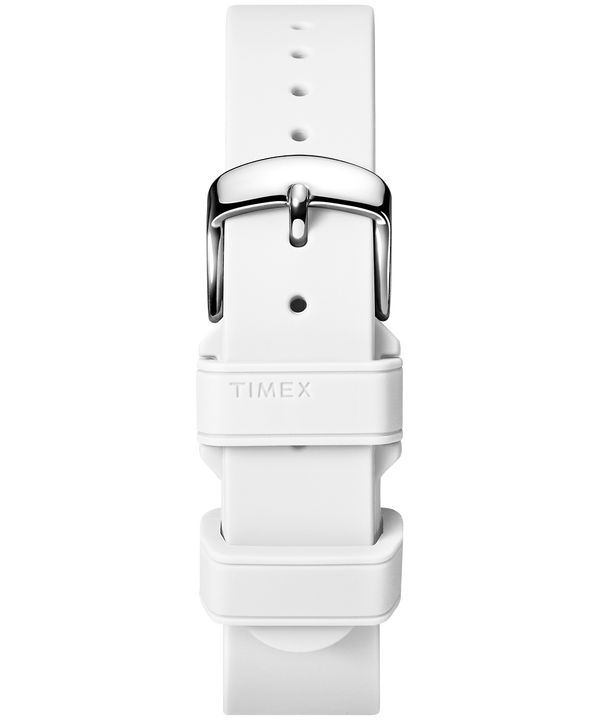 18mm Silicone Strap White large