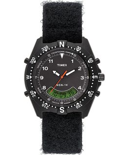 NSN 1K 39mm Fabric Strap Watch Black large