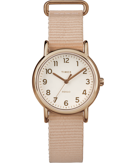 Weekender 31mm Nylon Strap Watch Rose-Gold-Tone/Pink/Cream large