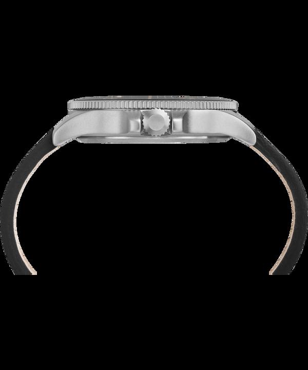 Allied Coastline 43mm Leather Strap Watch Silver-Tone/Black large