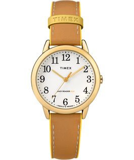Easy-Reader-30mm-Exclusive-Color-Pop-Leather-Womens-Watch Gold-Tone/Tan/Yellow large