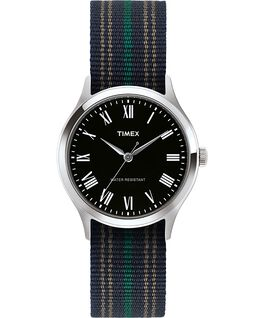Whitney Avenue 38mm Fabric Strap Watch Stainless-Steel/Black large