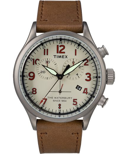 f95ae2a2b Waterbury Traditional Chronograph Numbered Dial 42mm Leather Watch ...