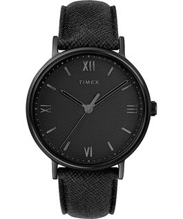 Southview 41mm Leather Watch Black large
