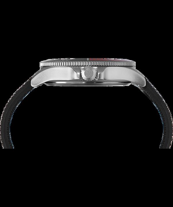 Allied Coastline 43mm Silicone Strap Watch Silver-Tone/Black large