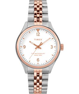 Waterbury Classic 34mm Watch Stainless Steel Two-Tone/Cream large