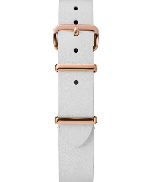 16mm Leather Slip-Thru Single Layer Strap White large