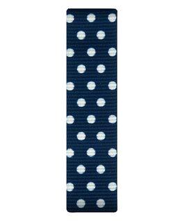 Blue/White Dots Nylon Slip-thru Strap  large