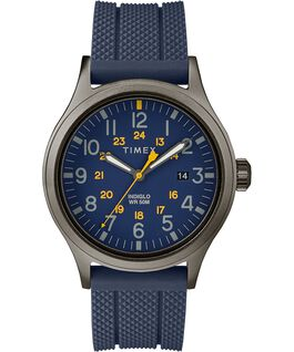 Allied 40mm Silicone Strap Watch Gray/Blue large