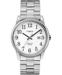 Easy Reader 38mm Stainless Steel Watch Expansion Band with Date Chrome/Silver-Tone/White large