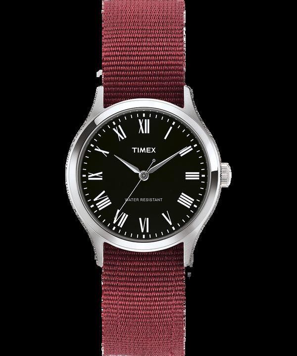 Whitney Avenue 36mm Reversible Grosgrain Strap Watch Stainless-Steel/Black large