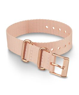 16mm Rose Gold Buckle Fabric Slip Thru Single Layer Strap Pink large