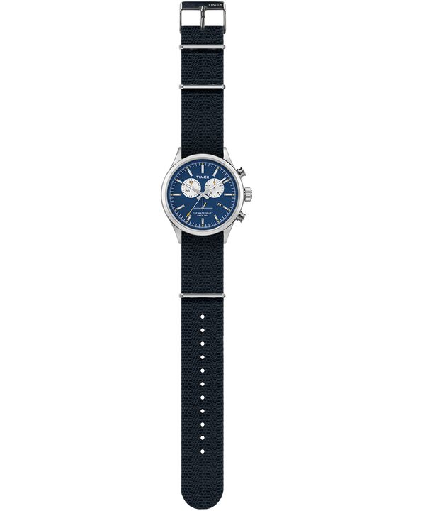 Waterbury Chronograph 42mm Grosgrain Strap Watch  large